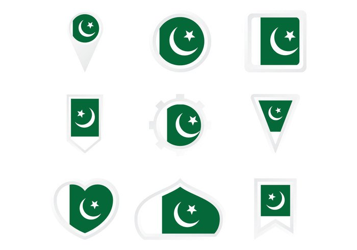 world wind white vector travel symbol state star sign set Patriotism Patriot pakistani pakistan flag Pakistan national nation map landmark isolated icon green Geographic flag emblem design country concept color collection circle button banner background asia area