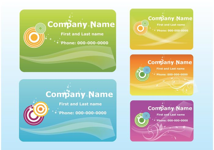 wave Visual identity Visual id template swoosh company circles card business cards business branding brand background