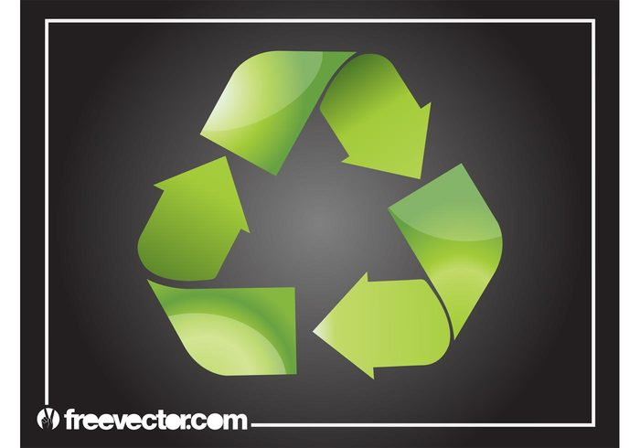 symbol shiny resources recycling recycle nature icon glossy ecology eco arrows