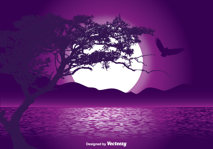white wave water wallpaper view texture star space sky shine shape sea scene round romantic reflection purple Outdoor ocean oak tree silhouette night nature mystical landscape mystical moonlight moon lunar light landscape lake Imagery horizon Heaven glow fantasy dark colorful blue black beautiful background