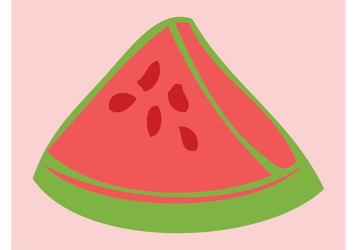 Watermelon slice watermelon vitamins Slice vector skin seeds nature logo icon Healthy health fruit food Diet vector Diet comic cartoon