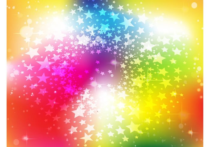 wave stars star burst sparkle shine rainbow multicolored motion light colorful vector colorful bright birthday