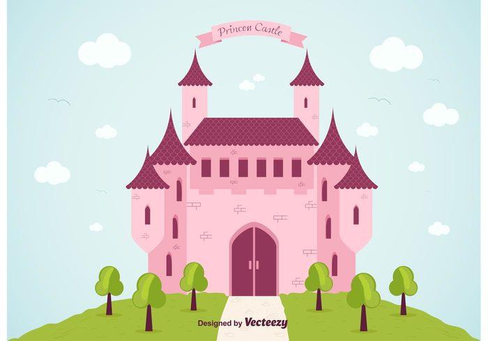tower tale sky princess castles princess castle princess magic king girl fantasy fairytale cute clouds child castles castle cartoon