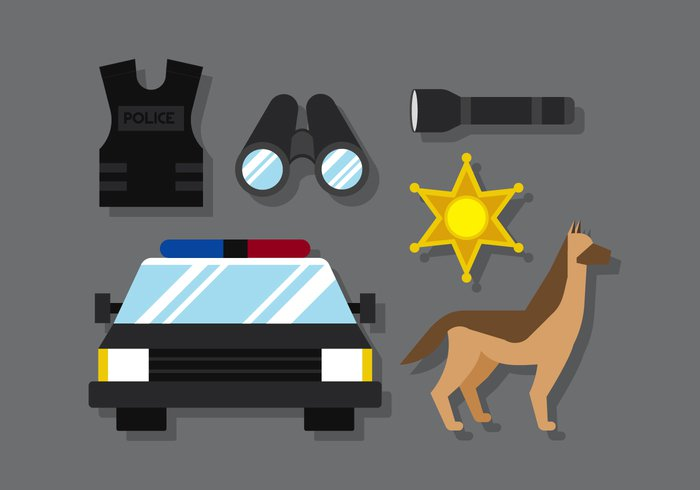 white vector traffic symbol stop station star sirene silhouettes sign shield Shackle set security safety Safe radio police pistol network megaphone measure man lock light key Jail isolated illustration icon hat Handcuffs hand gun graphic fingerprint face element detective design car badge background alarm