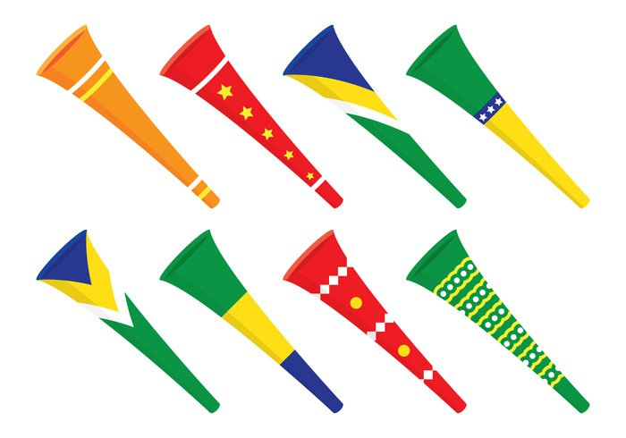 yellow world white vuvuzela trumpet team symbol Supporter sport sound soccer rendered render red play person orange noise music men Loud isolated instrument image illustration Human horn honk hand guy green grass graphic game football field fan digital concept competition color clipart Championship celebration cartoon banner ball background african