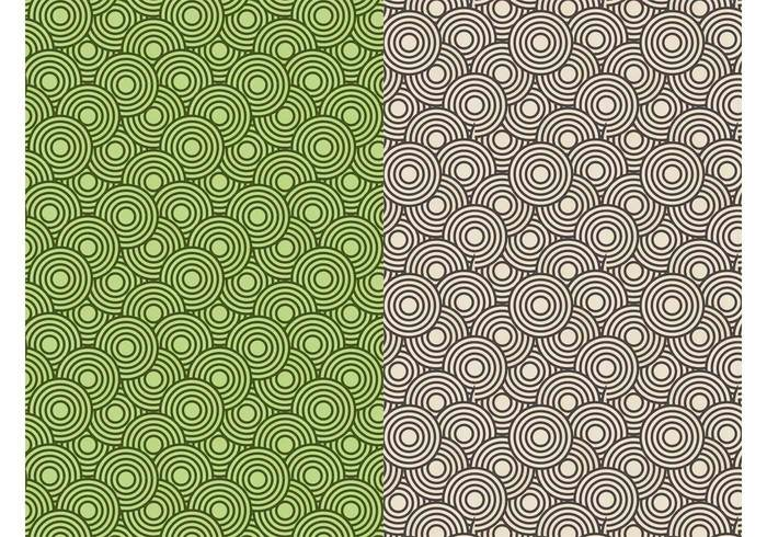 wallpaper versatile seamless round Pattern vectors Geometry geometric shapes CONCENTRIC circles background