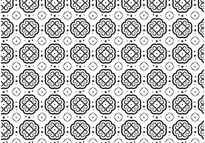 wallpaper vector pattern Textile star shapes seamless Repetitive print pattern dots background design