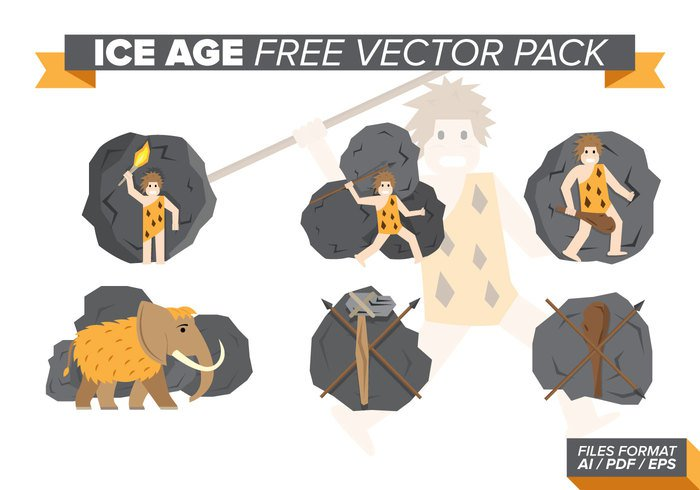 wood wild weapon vector tiger strength stone stick standing spear skin set Primitive prehistoric person people old man Mammoth male isolated illustration ice age ice hunting Human history graphic fish fire evolution drawing design collection clipart caveman cave cartoon background animal ancient Age
