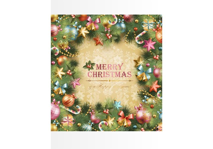 xmas tree star ornaments nostalgia new year greeting card Giving family decoration christmas Candy canes Backgrounds