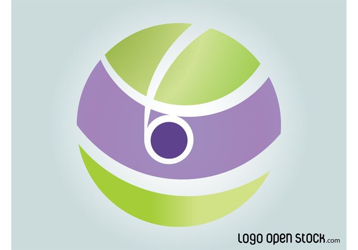 waving versatile round logo vector logo template logo Geometry curved circle abstract