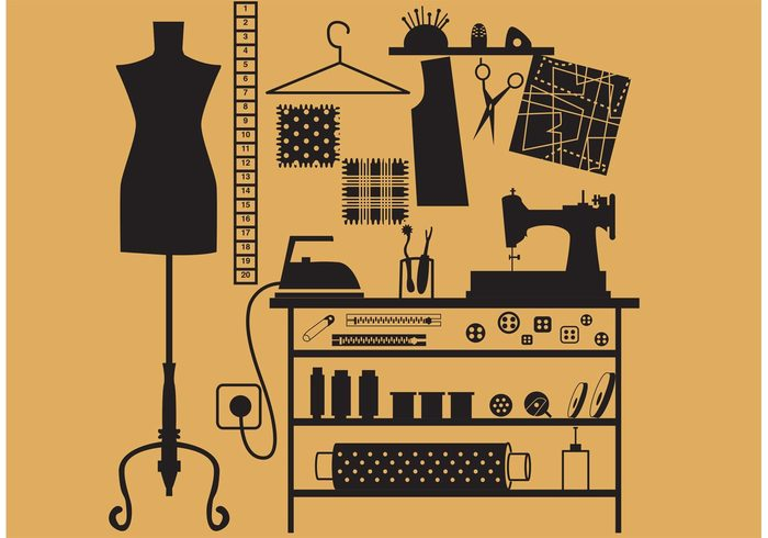 Sewing And Tailor Vector Symbols Welovesolo