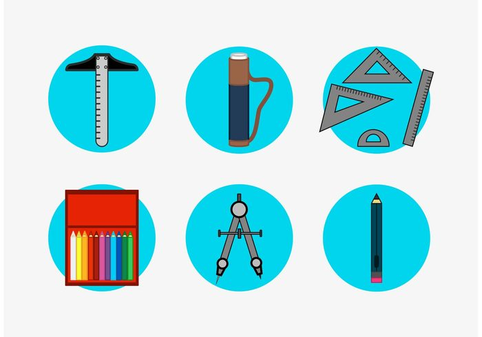 Architecture Tools Vector Icons Set Free 140355