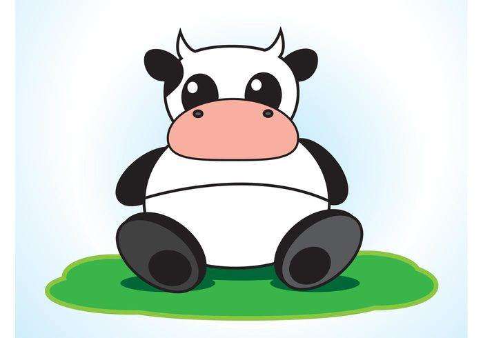 milk greeting card funny fun farm cute cow country comic characters cattle Cartoons bull Bovine animals