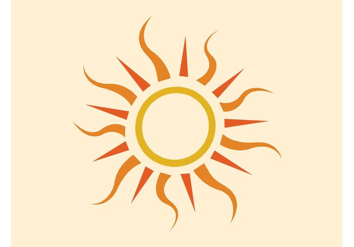 weather tattoo symbol sunshine Sun icon summer sky rays nature logo forecast climate circle