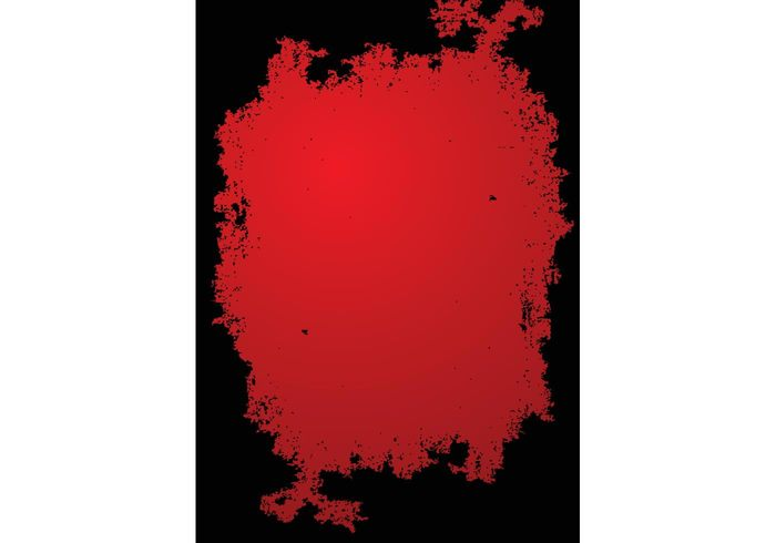 web splatter splash red ink grunge frame effects destroy cool border black background