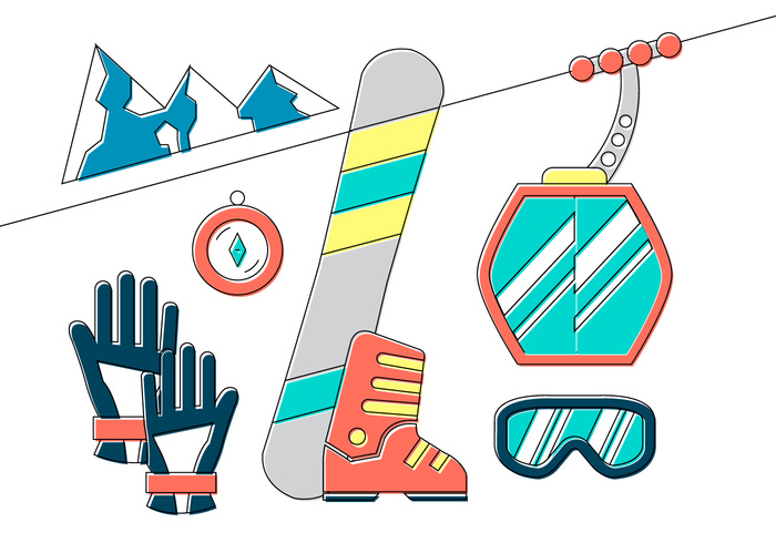 winter Way vacation travel transportation transport tourism sport snowboard snow sky ropeway rope nature mountain lift leisure illustration icon holiday gondola goggles gloves flat family skiing compass car cableway cable car cable cabin boots background Alpine