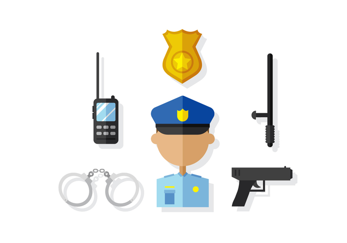 30cyqtrovxytx14 Vector Police Man and Elements