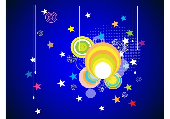 wallpaper stars round poster lines invitation fun flyer Flier Ellipses dots colors colorful circles background