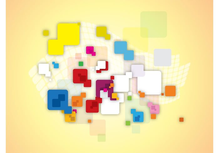 wallpaper squares rounded Rectangles Geometry geometric shapes decorative colors colorful background backdrop