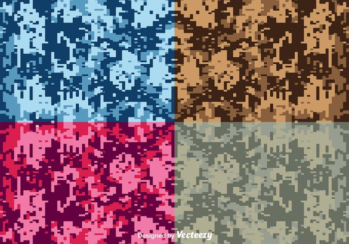 wood war vector universal uniform texture Textile soldier seamless pixel multicam military material jungle hunting green game forest desert clothing camouflage camo brown army 8 bit