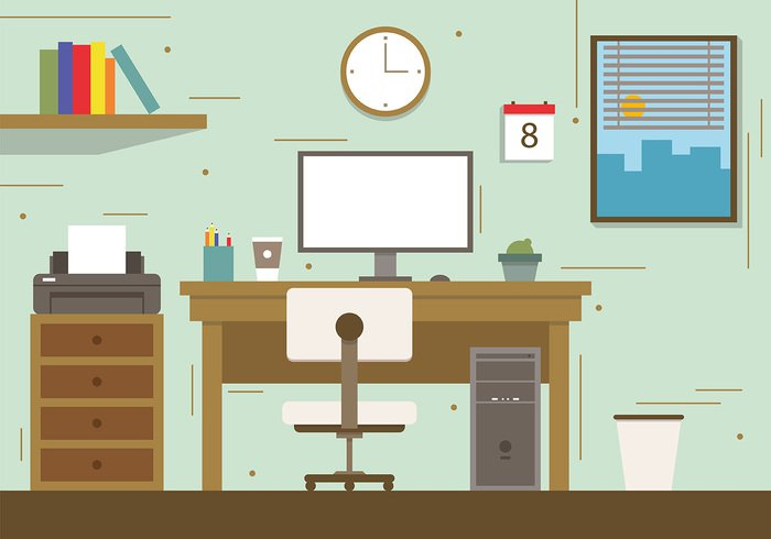 workspace workplace work website web vector technology table symbol stylish space screen room process Place pen Organization office object mouse monitor modern management lifestyle lamp keyboard Job interior illustration icon home graphic flow flat equipment elements development desktop desk designer design cup concept computer coffee calendar business background