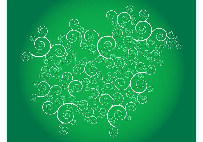 wallpaper versatile vector swirls Swirls vector spirals shapes scrolls round pattern decorative decoration curved background