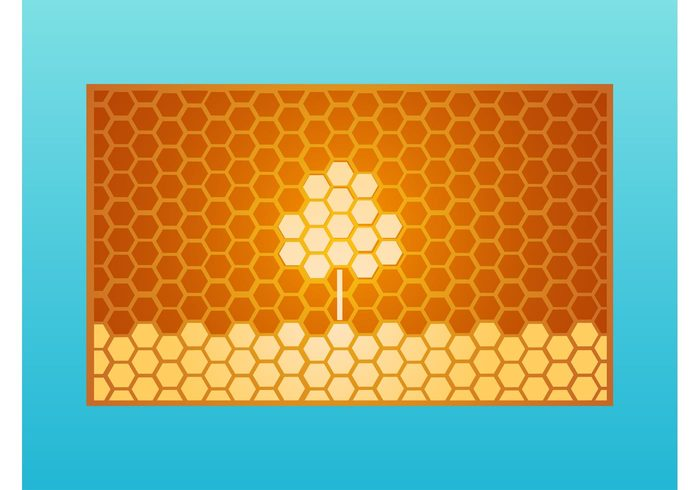 wallpaper plant nature hexagons geometric shapes business cards bees background animals abstract