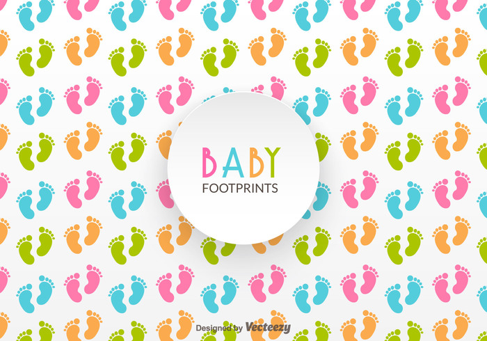 Free Baby Footprints Vector Pattern 145452 - WeLoveSoLo