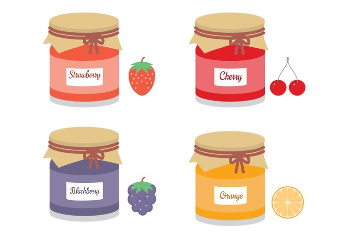 vector template sweet style strawberry shabby set orange mason jar mason marmalade label jar jam illustration icon Homemade glass fruits food eps10 design cute chic cherry Blackberry black berry artistic