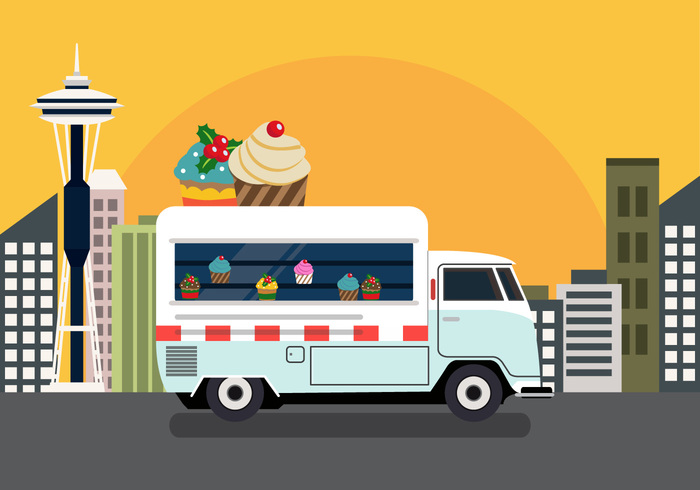 truck sweet street food street seattle space needle vector seattle foodtrucks foodtruck food festival fest event delicious cute cupcakes cupcake foodtruck cupcake Cuisine cake buy