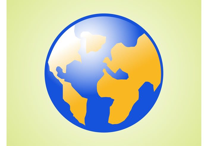 world water three-dimensional sphere round oceans logo ground continents circle 3d