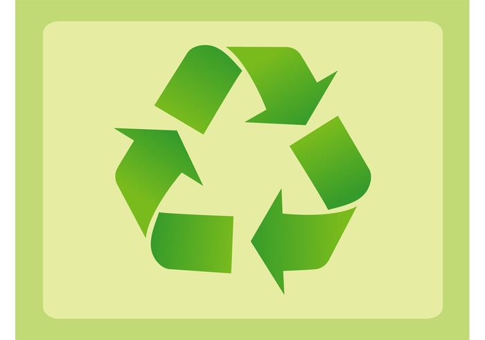 triangle symbol sticker sign recycling nature logo environment ecology eco badge arrows