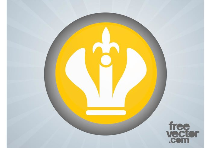 royal queen logo lily flower king icon fleur de lis crown button badge