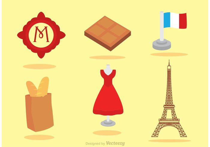 travel tourism tour eiffel set Red dress paris metro paris fashion Paris metropolitain metro Heritage france flat flag fashion eiffel tower isolated Eiffel drees culture color city chocolate cafe bread