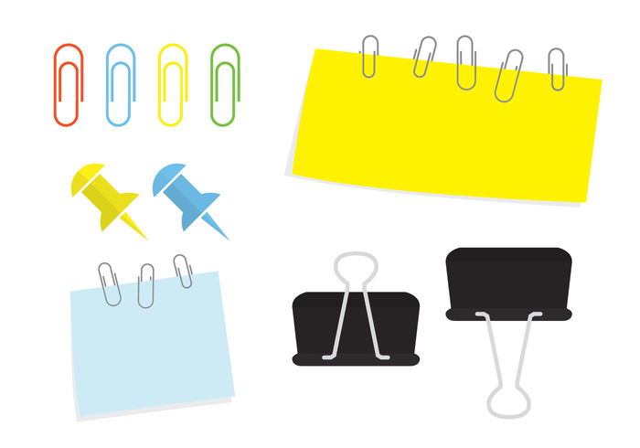yellow white vector tool thumbtack thumb tack thumb tack sticky stationery stationary school red pushpin push post pins pin paper notes note needle memo isolated illustration icon green cork collection clip bulletin board blue attachment