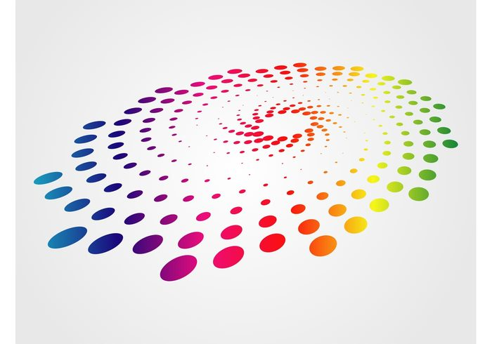 whirlpool warped swirling round nebula logo Ellipses decoration colors colorful circular pattern circles abstract