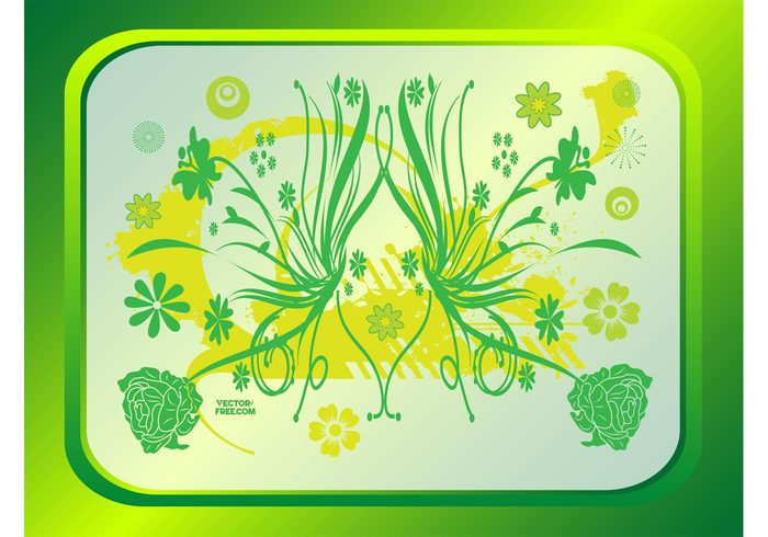 summer spring ornamental nature illustrator illustration flowers flower decoration clip art beautiful background backdrop