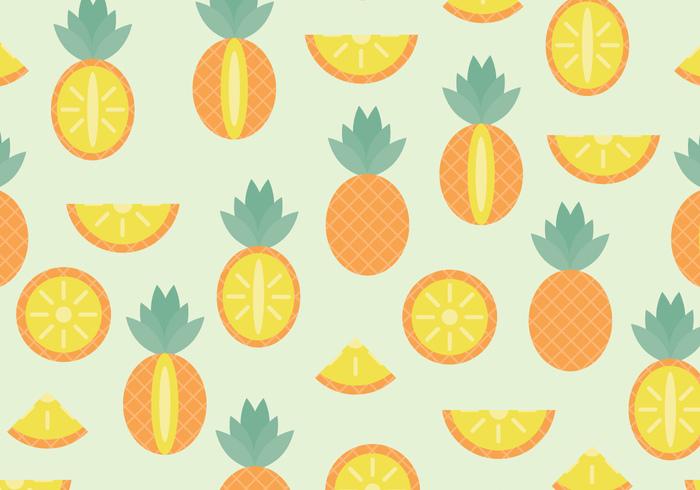 yellow repeat pineapple pattern Hawaiian hawaii hawai green fruit food background