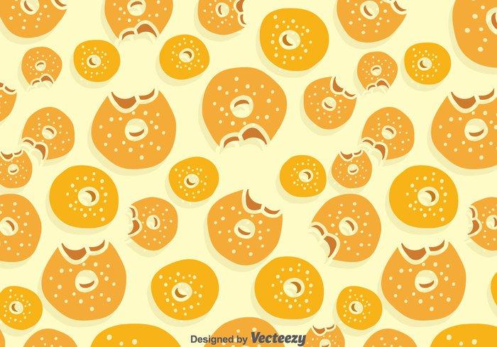 wallpaper print pattern food eat donut delicious bread bake bagel background
