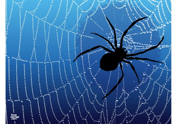 spider silhouettes insect horror Gothic Doom dark Dangerous danger creepy clip art background animal