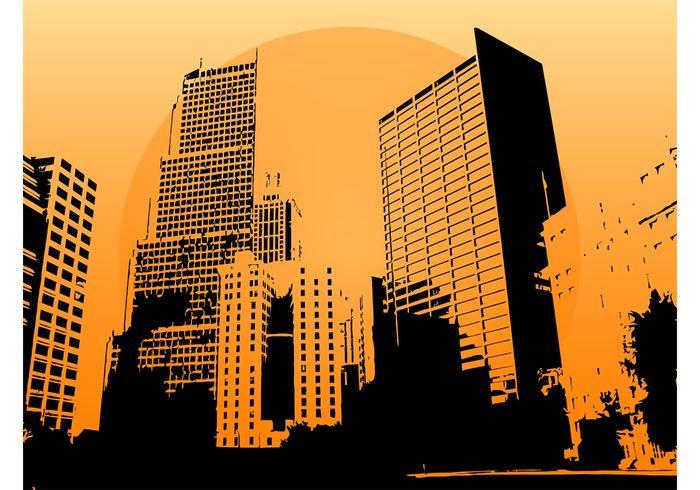 Windows wallpaper urban tall skyline cityscape city buildings big background architecture