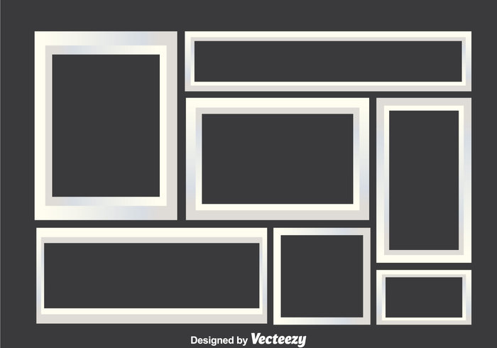 template photo collage photo gray frame empty composite collage border background