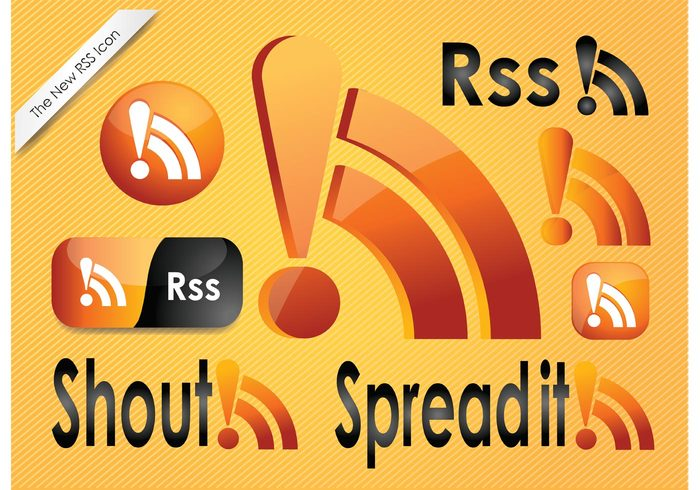 www web symbol Subscribe sign shiny set RSS reader orange News internet icon glossy glass feed communication Channel button blog 3d