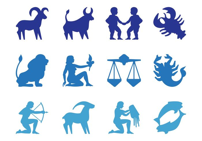 zodiac Virgo Taurus symbols silhouettes signs Scorpio Sagittarius Pisces people Libra Leo Gemini Capricorn cancer astrology Astrological Aries Aquarius animals