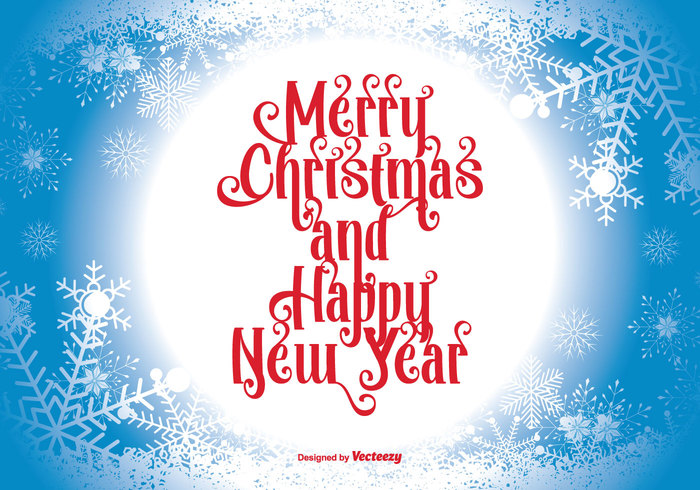you year xmas wish winter typographic text tag snowflakes snowflake snowball snow season red presentation poster new year new merry christmas merry label ice holidays header happy greeting Flakes emblem design decoration christmas card blue best banner background backdrop 2016