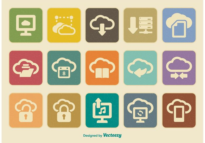 vintage icons vintage technology tablet symbol silhouette shape set server Retro style retro icons retro pictogram phone pc network monitor mobile laptop isolated internet icon graphic globe global file equipment element downloading digital devices desktop design data computing icon computing computer communications Cloudscape cloud computing concept cloud computing cloud black