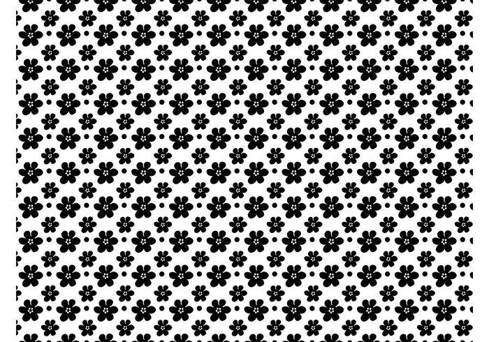 wallpaper vector pattern Textiles spring seamless round print petals nature fresh flowers floral flora cute circles