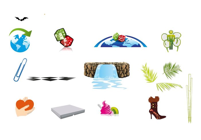 world sphere paper clip objects earth dice dessert cloud clip checkered