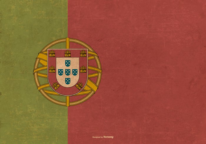 vinatge vector flag travel trade Symbolism symbol state sovereign sign retro portugal flag Portugal Patriotism patriotic old vintage old official nationality national landscape illustration Illustrated identity icon horizontal grunge graphical flags flag element Distressed dirty country flag country countries Colours colors banner background