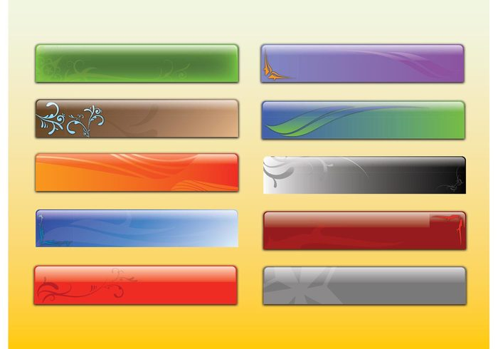 website web text tech style sign shiny shape rectangle modern header glossy decorative colors banner background advertising 3d